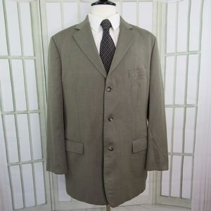 Alan Flusser Super 100's 44 Long Suit Jacket